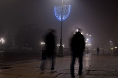 Paisaje urbano en la niebla Imagen de archivo