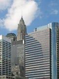 Paisaje urbano en Manhattan céntrica fotografía de archivo