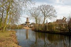 Paisaje urbano en Ravenstein en los Países Bajos Foto de archivo