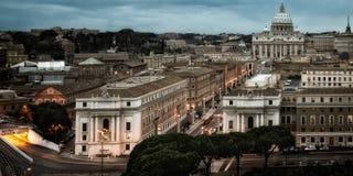 Paisaje urbano en Roma Fotografía de archivo libre de regalías