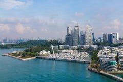 Paisaje urbano en Singapur Imagen de archivo libre de regalías