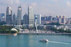 Paisaje urbano en Singapur Imagenes de archivo
