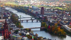 Paisaje urbano Francfort Alemania almacen de video