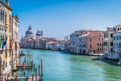 Paisaje urbano Grand Canal Italia de Venecia Imagen de archivo libre de regalías