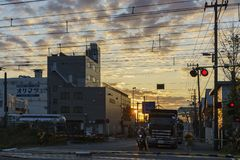 Paisaje urbano hermoso alrededor de Kanagawa-Ken Foto de archivo