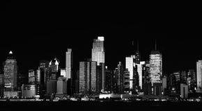 Paisaje urbano hermoso de Nueva York sobre el hudson imagen de archivo