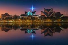 Paisaje urbano hermoso del horizonte de Kuala Lumpur Foto de archivo libre de regalías
