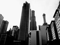 Paisaje urbano/horizonte céntricos de Los Ángeles Foto de archivo
