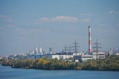 Paisaje urbano industrial de Dnepropetrovsk imagenes de archivo