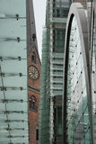 Paisaje urbano inusual de Hamburgo Imagenes de archivo