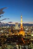 Paisaje urbano Japón de la torre de Tokio Fotos de archivo