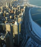 Paisaje urbano metropolitana de Chicago Foto de archivo
