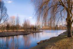 Paisaje urbano Minsk Bielorrusia de la primavera Foto de archivo libre de regalías