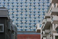 Paisaje urbano moderno de Hamburgo Imagenes de archivo