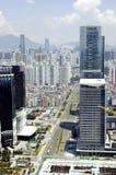Paisaje urbano moderno de la metrópoli Imágenes de archivo libres de regalías