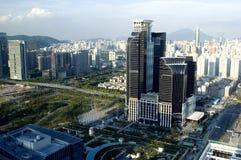 Paisaje urbano moderno de la metrópoli imagen de archivo libre de regalías