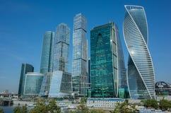 Paisaje urbano moderno Moscú-ciudad, Rusia International Busi de Moscú Imágenes de archivo libres de regalías