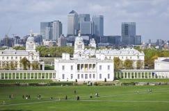 Paisaje urbano naval real Reino Unido de Greenwich Londres de la universidad Imagen de archivo