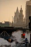 Paisaje urbano nebuloso Fotografía de archivo