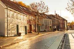 Paisaje urbano Noruega de Strondheim Imágenes de archivo libres de regalías