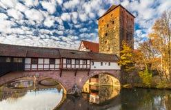 paisaje urbano Nuremberg-Alemania-viejo de la ciudad Imágenes de archivo libres de regalías