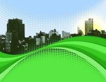 Paisaje urbano ondulado Foto de archivo libre de regalías
