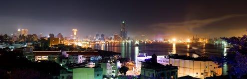 Paisaje urbano panorámico del color Foto de archivo libre de regalías