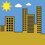 Paisaje urbano por día Imagen de archivo