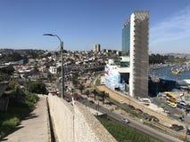 Paisaje, paisaje urbano, puerto y habour Imagen de archivo