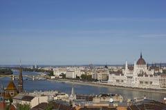 Paisaje urbano que mira la dirección al norte de Budapest Fotos de archivo libres de regalías