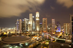 Paisaje urbano Singapur Imagen de archivo libre de regalías