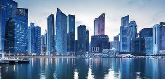 Paisaje urbano Singapur fotos de archivo