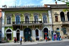 Paisaje urbano típico en Cluj-Napoca, Transilvania Fotos de archivo libres de regalías