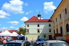 Paisaje urbano típico en Sibiu, capital europea de la cultura por el año 2007 Foto de archivo