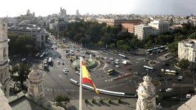 Paisaje urbano tirado de Madrid, España imagen de archivo