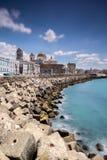 Paisaje urbano y horizonte de Cádiz, España Fotografía de archivo