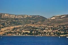 Paisaje urbano y paisaje Niza, Francia de la montaña Imagenes de archivo