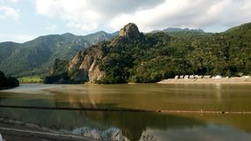 Paisaje Valea Oltului foto de archivo