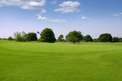Paisaje verde de la hierba del golf en Tejas Imágenes de archivo libres de regalías