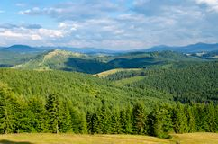 Paisaje verde de la montaña foto de archivo