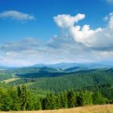 Paisaje verde de la montaña fotografía de archivo