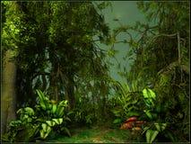 Paisaje verde de la selva Imagenes de archivo