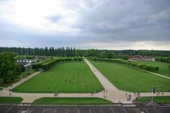 Paisaje verde de la visión desde el castillo de Chambord fotografía de archivo