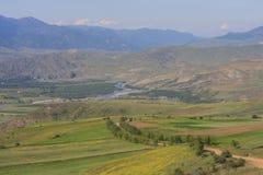Paisaje verde en el Cáucaso Foto de archivo libre de regalías