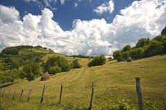 Paisaje verde hermoso de la montaña fotografía de archivo