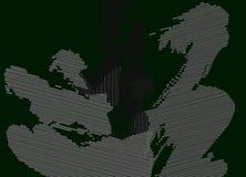 Paisaje verde oscuro de la portilla de la abstracción 1 Spruce imagen de archivo