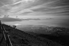 Paisaje Vesuvio foto de archivo