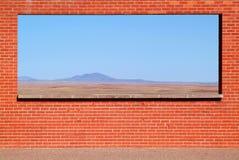 Paisaje visto de una ventana Foto de archivo libre de regalías