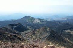 Paisaje volcánico Foto de archivo libre de regalías
