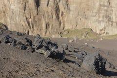 Paisaje volcánico de Azores en la isla de Faial DOS Capelinhos de Ponta Imágenes de archivo libres de regalías